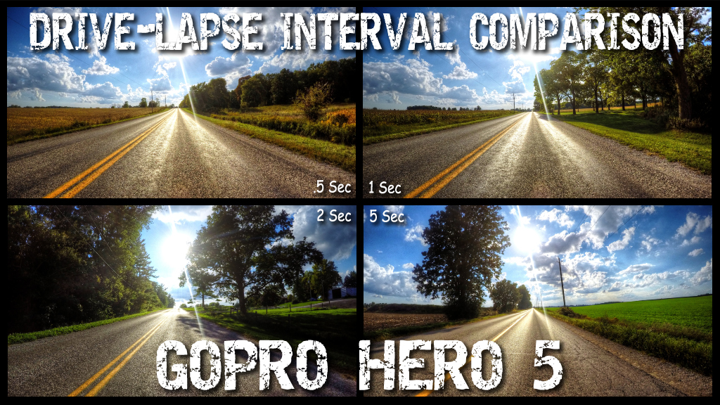 GoPro Drive Lapse Interval Comparison Air Photography Drones And 360 Cameras